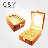 Window Luxury Design PU Leather Sunglass Storage Box