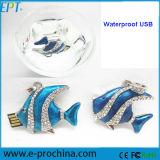 Waterproof Crystal Jewellery Fish USB Flash Drive