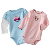 100% Cotton Printed Long Sleeve Baby Wear Romper