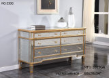 6 Drawers Dresser with Anituque Mirror