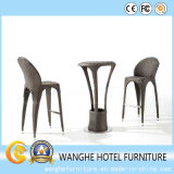 Rattan Brown Bar Stool Furniture Whole Set for Outdoor