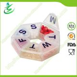 Weekly Plastic Round Pill Box, 7-Day Medcine Pill Case