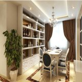 Indoor Tall Wine Rack/Showing Rack with Bookcase