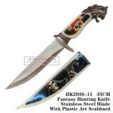 Tactical Survival Knife Zombie Handle 35cm