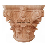 Classic Wood Carved Full Round Roman Corinthian Capital Cap-01