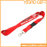 Custom Silk Printing Logo Polyester Lanyard with Safety Hook (YB-LY-12)