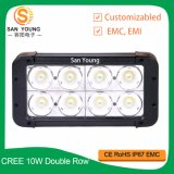 CREE 10W LED Light Bar for Trucks Double Row LED Bar Light Made in China