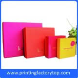 Four Colors Custom Gift Boxes Cardboard Box Clamshell Packaging