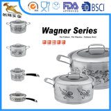 Stainless-Steel 4-Piece Kitchen Equipment with Decal/Cookware Set