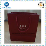 Eco-Friendly Customized Red Paper Jewelry Bag with Handles (JP-PB021)