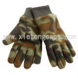 Camouflage Fleece Glove with Knitted Wrist(JRG020)