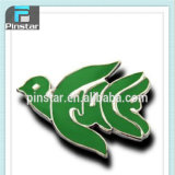 2015 New Custom Metal Direct Sale Peace Sign Dove Shaped Word Peace Lapel Pin Badge