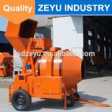 Jzc350 Mobile Reversing Drum Concrete Mixer Machine