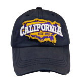 Custom Washed Baseball Cap with Applique Logo Bb1745