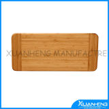 Bamboo Food Preparation Cutting Board with Groove Handle