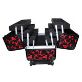 Trolley Cosmetic Case with 6 Extension Trays