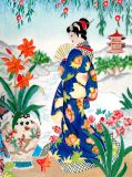30X40cm Hand Painted Art Ceramic Painting for Wall Decoration