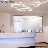 SGS Certificate Acrylic Solid Surface Reception Desk (TW-100)