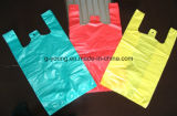 Waterproof Colorful Plastic T-Shirt Bag for Shopping