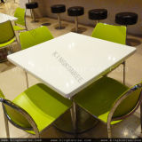 Kkr Solid Surface Square 700mm Restaurant Dining Tables