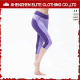 Fancy Workout Clothing Fitness Yoga Leggings Purple (ELTLI-95)