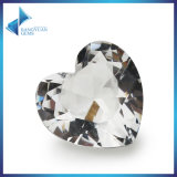 Synthetic Gems Glass Stones White Heart Shape DIY Jewellery Beads
