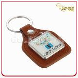 Special Design Custom Printed & Epoxy Logo Leather Keychain