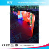Flexible P4 Curved LED Advertising Display Screen with 140 Degree Viewing Angle
