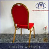 Foshan Modern Red Stackable Metal Banquet Chair