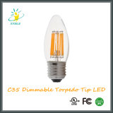 LED Candle Bulb C35 6W Energy Saving Torpedo Tip LED Bulb