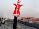 Inflatable Santa Claus Sky Dancer with One Leg for Christmas