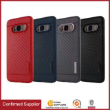 Nice Rubberized Carbon Fiber Armor Back Case for Samsung Galaxy S8 Plus
