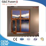 Fuxuan Brand Aluminum Wood Grain Tilt and Turn Casement Window