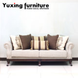 Classic Fabric Sofa Set Traditional Home Couch with Wooden Base for Living Room
