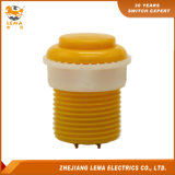 IP40 Protection Level 8A 250V 33.4mm Yellow Push Button Switch Pbs-009