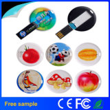 Free Colorfull Printing Circle Card Pen Drive Memory 2GB