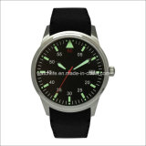 Arm Stainless Steel with Rubber Band Luminous Men Wrist Watch