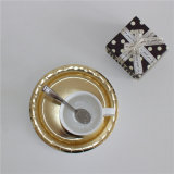 """Foiling Golden 9"""" Round Paper Plate for Party"""
