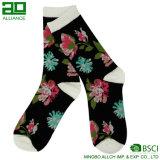 Floral Design Girls Kids Crew Custom Cotton Socks