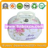 Gift Tin Box with Handle for Christmas Tin Case