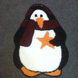 Penguin Design Eco-Friendly Funny Non-Slip Bath Living Room Rug