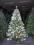 Christmas Tree with Cherry Mix Pine Cones Size 1.2m