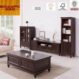 Mahogany Wooden TV Stand / TV Cabinet with Drawers (GSP13-009)