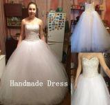 Hot Handmade Sweetheart Sequin Plus Tulle Ball Gown Wedding Dress