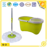 Easy Magic Floor Bucket Mop with 2 Microfiber Mop Heads