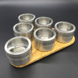 Stainless Steel Seasoning Pot Kitchen Tool with Bamboo Rack