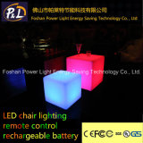 Colorful Plastic Lighted Cube Chair LED Lighted Furniture