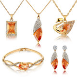 Swan Pendant Earring Necklace Bracelet Wholesale Set Fashion Jewellery Set