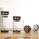 Double Walled Glass Water Bottle with Tea Filter