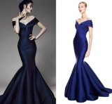 Simple Evening Gown Mermaid Satin Bridesmaid Party Prom Dress Z220